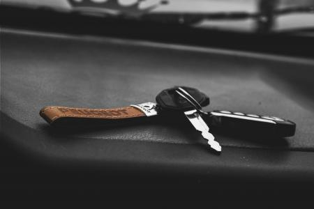 Car keys on a dashboard